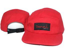 Brand New Hot Sale Diamond 5 Panel cap Snapback Hats,Adjustable hip hop baseball caps drop shipping