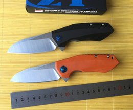 Wholesale zero tolerance fenton ZT0456 fin folding knife bearing D2 blade G10 parts processing tools of outdoor survival camping hunting