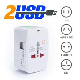 Wholesale All in One Universal International Plug Adapter USB Port World Travel AC Power Charger Adaptor with AU US UK EU converter Plug