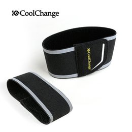 CoolChange Safety Cycling Reflective Straps Pair Leg Strap Cycling Pants Clip Reflective Cycling Safety Beam Belt Foot Straps