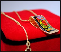 """Dream Garden Series 18K gold-plated enamel necklaces for women Top """"S"""" shape pendant necklaces colar women designer necklace"""
