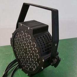 Free shipping 54X3W Cast aluminium High power Flat Par LED RGB 3in1 Tri color Flat Par64 LED