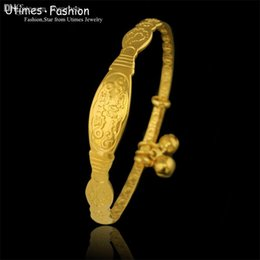 Wholesale mm Bell Baby Bangle Bracelet Jewelry k GP made by Environmental Copper