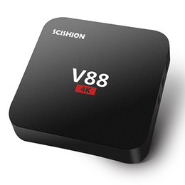 Wholesale V88 Android TV Box Rockchip Smart Boxes K Quad core version Full Loaded support D Free Movies Online Mini PC
