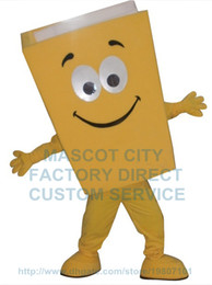 Wholesale New Custom Advertising Costumes Yellow Blue Red Recycled Notebook Book Mascot Costume Cartoon Character Theme Mascotte Fancy Kit