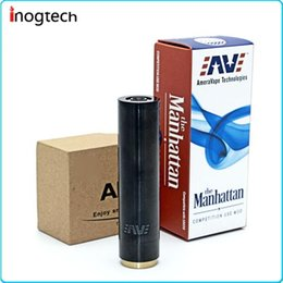 Wholesale E cigarette Batteries manhattan MOD Full Mechanical Derlin isolator Thick wall design add durability electrical conductivity