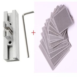 Wholesale 10pcs Directly Heat BGA Rework Reballing Universal Stencil Template IC Sik Tin Jig Station Fixtures