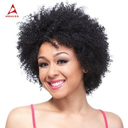 Short Black Curly Wig Afro African American Wigs For Black Women Synthetic Hair Wigs Cosplay Or Party Wig Free Shipping