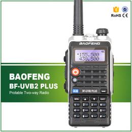 Wholesale-Baofeng BF-UVB2 Plus Walkie Talkie 5W Power Portable Two Way Radio VHF UHF UV Dual Band Walkie Talkie UVB2 Plus Free Headset