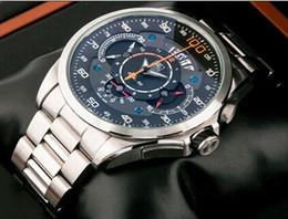 Wholesale 2016 hot new men Mercedes SLS shows a stopwatch dial men luxury stainless steel quartz movement watch free shippi