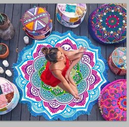 Wholesale Polygon macrame Shawls round mandala tapestry Indian Wall Hanging Beach Towel Yoga Mat Picnic Blanket Shawl Bohemia Decor Carpet Rug
