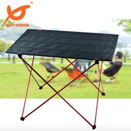 Wholesale 0 Kg Big Size Lightweight Gargen Portable Foldable Folding Table Desk Furniture Outdoor Picnic Aluminium Alloy