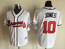 Wholesale Hot Sale Cheap Men Chipper Jones Jersey Embroidery Logos Atlanta Braves Baseball Vintage Best Quality