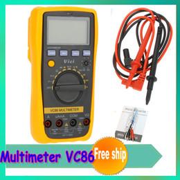 Wholesale Digital Multimeter Vici VICHY VC86 Auto Range DMM Temperature Meter w NCV hFE Test amp LCD Backlight Dropship