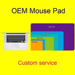 Wholesale 30pcs DHL OEM Gaming and Working Mouse Pad Custom service Size mm Mouse Pad DIY Logo AD Precised Lock Side Speed Version and Control V