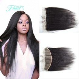 Light Yaki Straight Hair Lace Frontal Closure Indian Hair With Baby Hair 13x4 Wet Closure Full Lace Frontal Closure