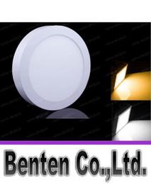 Поверхность панели Онлайн-Крытый лампа светодиодная панель свет 9W 15W 21W 30W кухня потолочный светильник круглый поверхностного монтажа Алюминиевый 2835SMD 18W панель фары LLFA
