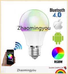 YON Bluetooth LED Bulb 4.5W E27 RGBW Bluetooth 4.0 Smart LED Light Color Change Dimmable by IOS   Android APP.