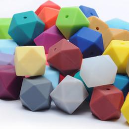 Wholesale 100 Hexagon Silicone Beads Bulk Silicone Teething Chewing Nursing Necklace DIY Teething Toy Bulk