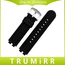 Regarder bracelet en caoutchouc noir à vendre-Gros-22mm Bracelet caoutchouc silicone pour Pebble Steel 2 montre Smart Watch Band Replacement Bracelet Bracelet en résine avec outil Spring Black Bar