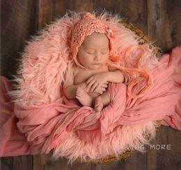 85cm x 45cm Mongolia Fur Photography Props Newborn Faux Fur Blanket Basket Stuffer Newborn Photography Props