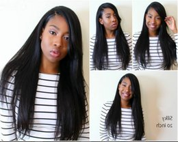 Glueless Lace Front Human Hair Wig 130Density Brazilian Virgin Hair Silky straight Full Lace Wigs with Side Bangs for White Black Women