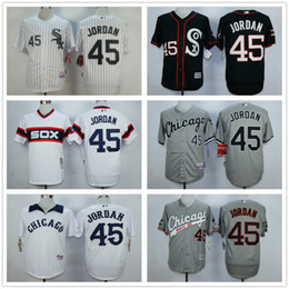 Wholesale 2016 New Cheap MLB White Sox Michael Jordan Birmingham Barons Button Down Black Throwback Baseball Jersey Embroidery Logos