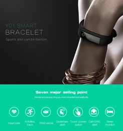 Promotion activité smartband tracker Fitness Activity Tracker Bluetooth 4.0 Smartband Sport Bracelet Smart Band Wristband Podomètre Pour IOS Samsung Android Y01