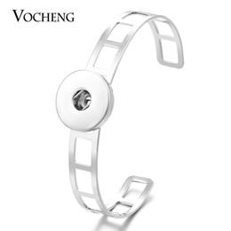 VOCHENG NOOSA Open Bangle Snap Button Jewelry 18mm Interchangeable Button NN-403