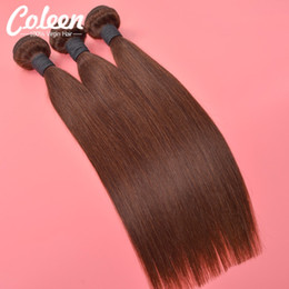 Wholesale 7A Brazilian Virgin Hair Straight Light Brown Bundles Human Hair Extensions Coleen Hair Products Free Ship Domestic Delivery