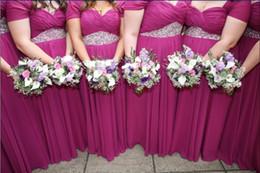 Elegant Plus Size Wedding Guest Dress 2016 Cap Sleeves Pleats Draped Chiffon Bridesmaids Dress Long Custom Formal Occasion Dress
