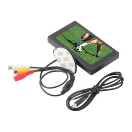 Lcd moniteur d'affichage vidéo à vendre-Gros-4,3 pouces couleur TFT LCD arrière de voiture tête moniteur Pour les DVD Caméra de recul 2 canaux vidéo moniteur de voiture d'entrée ~