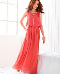 High quality foreign trade women's big yards long summer fashion chiffon round collar stitching Bohemian dress dress