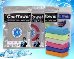 Wholesale Microfiber Sweat Summer Cold Towel Sports Cooling towel magic ice towel Cool down to degrees