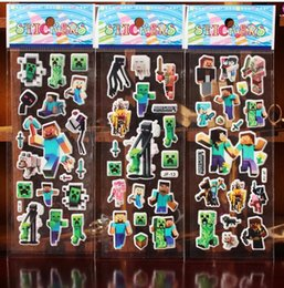 Wholesale F Series design Cartoon D Puffy stickers toys Frozen patrol dog Avengers superman ABC NUM flower Dress up childrens wall stickers