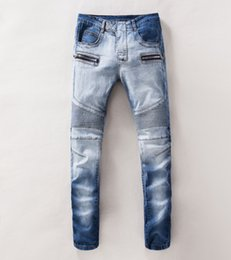 Wholesale Balmain Mens Jeans Unique Design Jeans Acid Washed Long Jeans with Cotton for Spring and Autumn for Men jeans