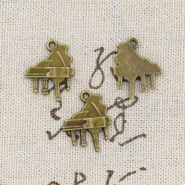 Wholesale 120pcs Charms piano mm Antique Making pendant fit Vintage Tibetan Bronze DIY bracelet necklace