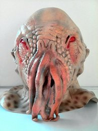 Wholesale-Doctor Who Latex Creepy Ood Octopus Wode Star Horror Head Masks