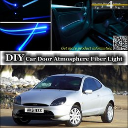 Wholesale interior Ambient Light DIY Tuning Atmosphere Fiber Optic Band Lights For Ford Puma Door Panel illumination Refit