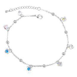 Charm Fashion Jewelry Bracelet Crystal from Swarovski Elements White Gold Plated With Rhinestone Bracelets For Women 16651
