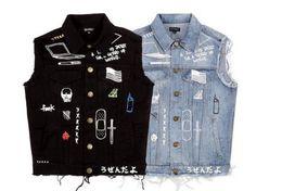 Hot Sales streetwear harajuku swag korean fashion clothing jackets hip hop mens clothes club wear coat blue black jean denim jacket men