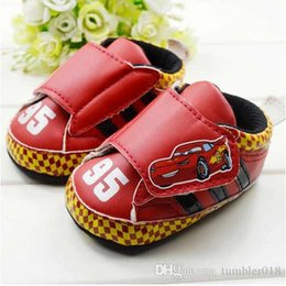 Baby first walkers shoes baby sport shoes cotton shoes cartoon car shoes color red size 11-13cm 2016 autumn kids shoes children shoes.815