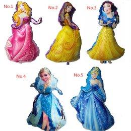 Wholesale 50pcs cm giant size belle princess globos Cinderella balloons party supplies birthday gift baby girl baloon