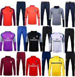 Wholesale 2016 Real madrid barcelona jerseys psg Bayern Muni soccer Sports Borussia Dortmu Atletico Madrid Training suit Juventus shirt