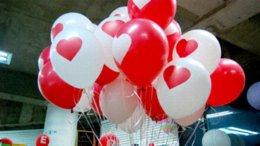 Globos del corazón en Línea-0pcs / lot espesa los globos del látex para el festival del partido decoraciones de la boda con grandes Valentine Impreso Corazón 870105 globo de la decoración del nacimiento ...