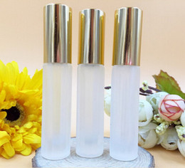 Wholesale 3 ml roll on perfume bottle and buy new stripes frosted glass roller go bead bottles ball ml