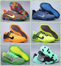 2016 chaussures de sport pas cher Nouveaux Chaussures Kobe 11 Elite Weave Basketball Sneakers pas cher Kobe XI Low Cut Sport All Stars Kobe Shoes Taille 40-46 chaussures de sport pas cher promotion