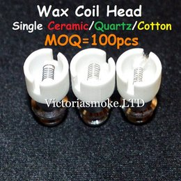 Wholesale 3 Styles Cearmic Quartz Cotton Coil Head for Glass Globe Atomizer Glass Bulb Atomizer E Cigarette Metal Wax glass globe bulb atomizer Coils