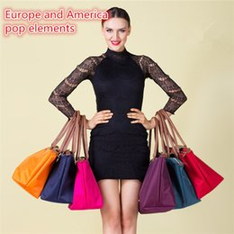 Wholesale New d waterproof Travel Bag folding Oxford cloth shopping bags laptop bag Female bag supermarket shopping bag