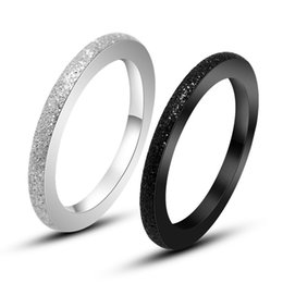 Fashion Jewelry 316L Stainless Steel Silver And Black Couple Ring Wedding Rings Engagement Rings Free Shipping